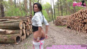 Sex am Waldweg mit deutscher Schlampe